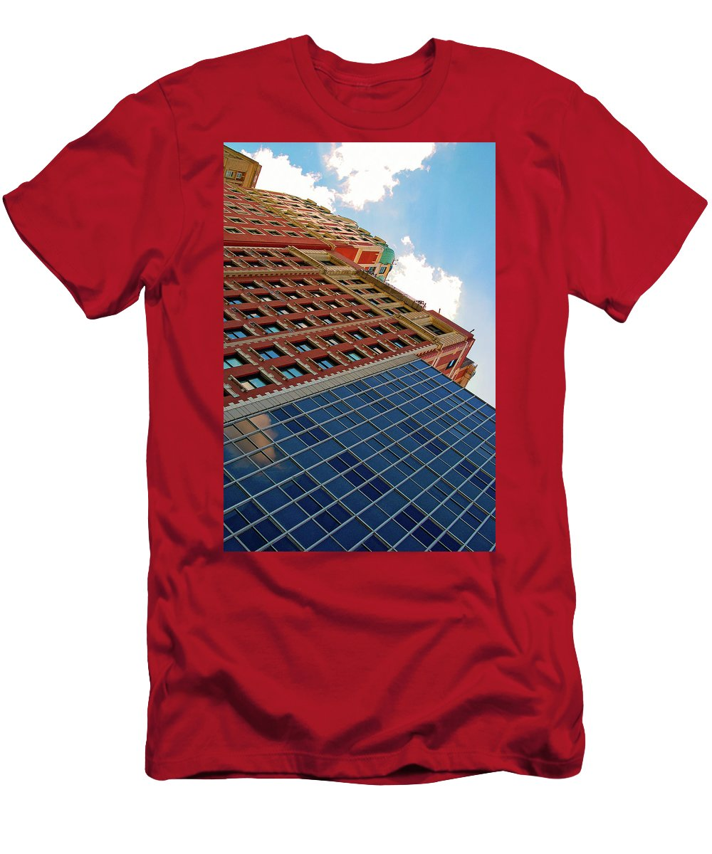 Abstract Men's T-Shirt (Athletic Fit) featuring the photograph South Michigan Avenue by Vm Vassolo