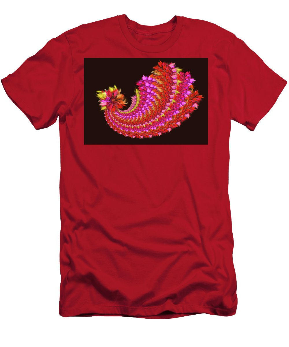 Abstract Men's T-Shirt (Athletic Fit) featuring the photograph Spiral Of Joy by Ludmila SHUMILOVA