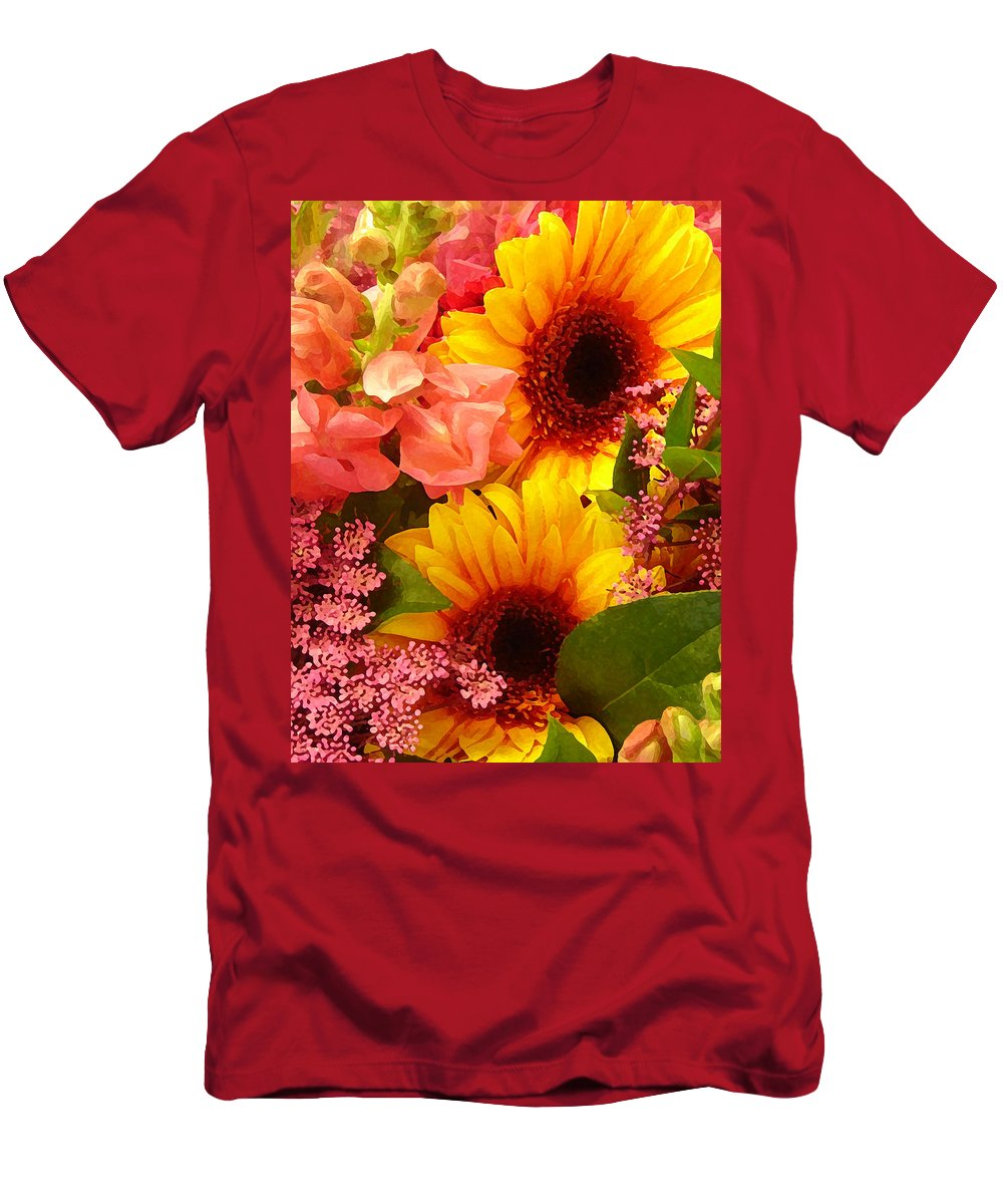 Roses Men's T-Shirt (Athletic Fit) featuring the photograph Spring Bouquet 1 by Amy Vangsgard