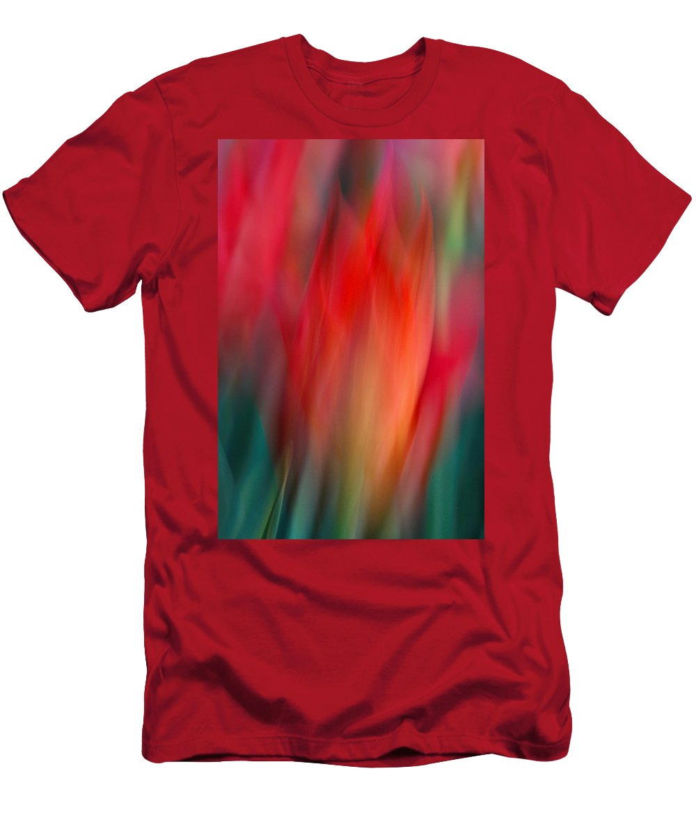 Tulip Men's T-Shirt (Athletic Fit) featuring the photograph Spring Fling by Neil Shapiro