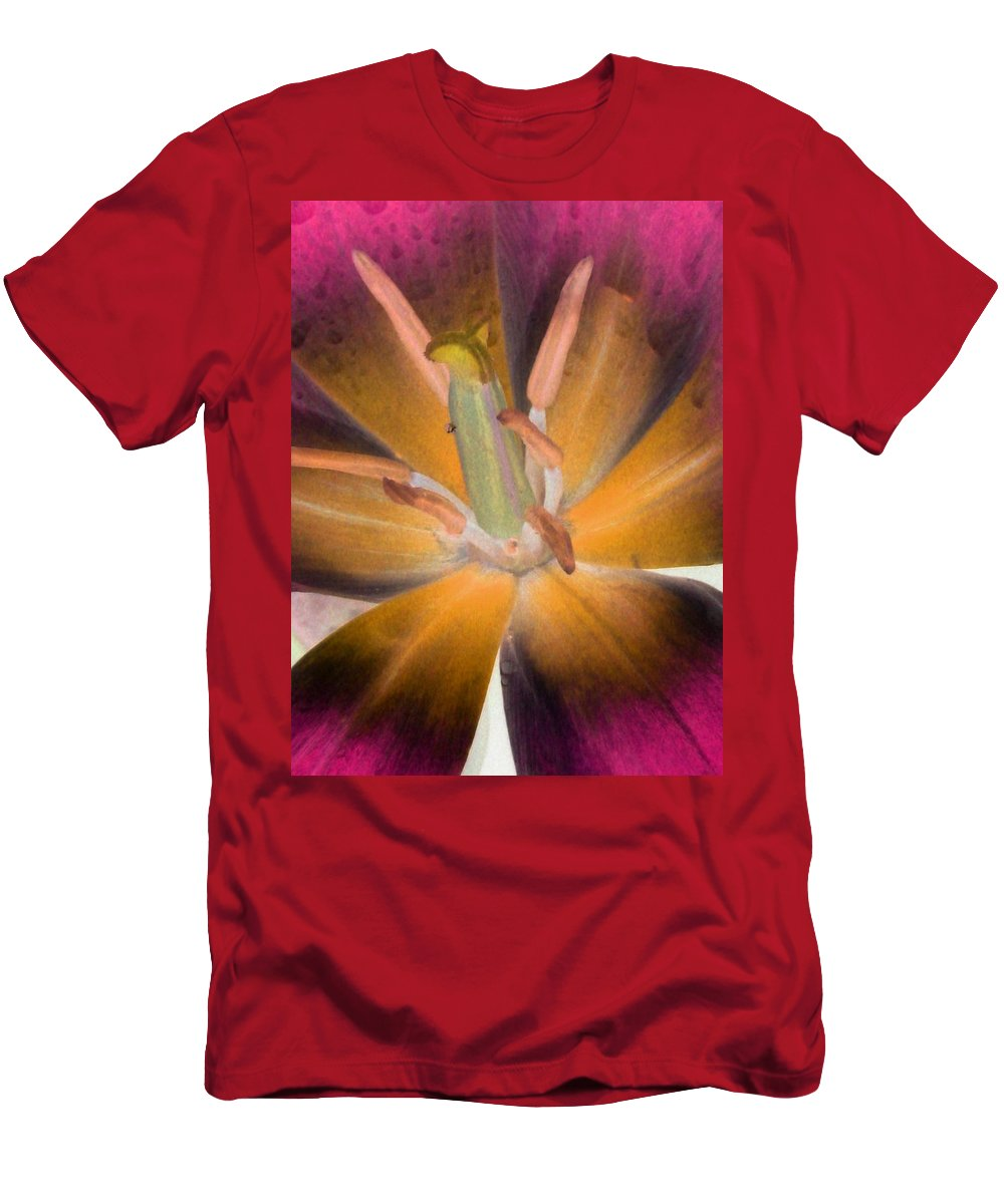 Tulip Men's T-Shirt (Athletic Fit) featuring the photograph Spring Tulips - Photopower 3109 by Pamela Critchlow