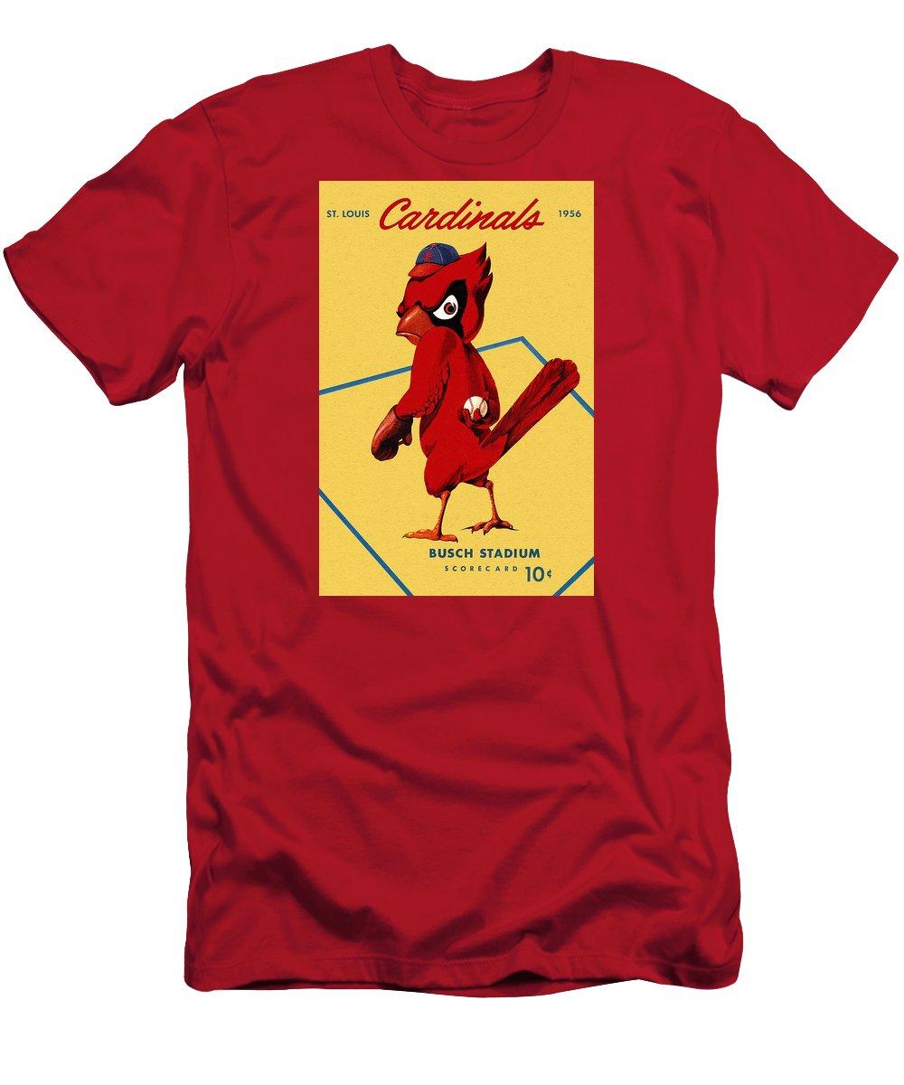 d262cf036080c St. Louis Cardinals Vintage 1956 Program Men's T-Shirt (Athletic Fit)