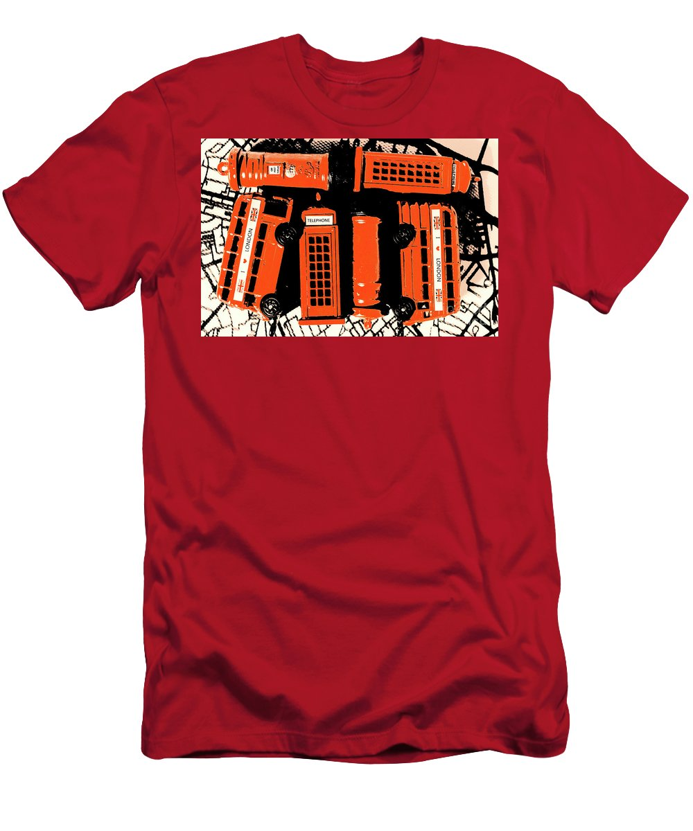 Retro Men's T-Shirt (Athletic Fit) featuring the photograph Stacking The Double Deckers by Jorgo Photography - Wall Art Gallery