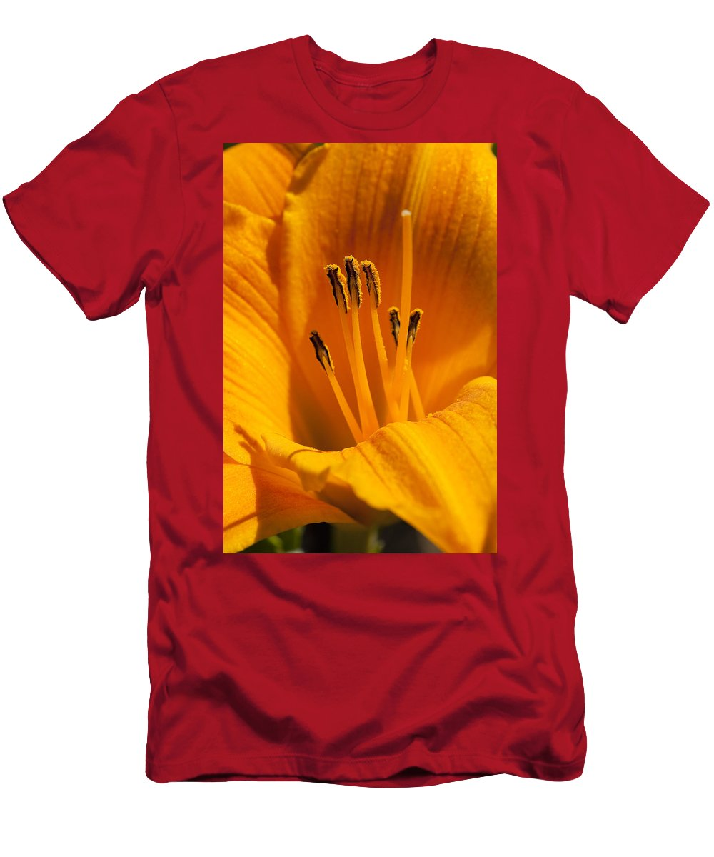 Flowers Men's T-Shirt (Athletic Fit) featuring the photograph Stamens by Kelley King