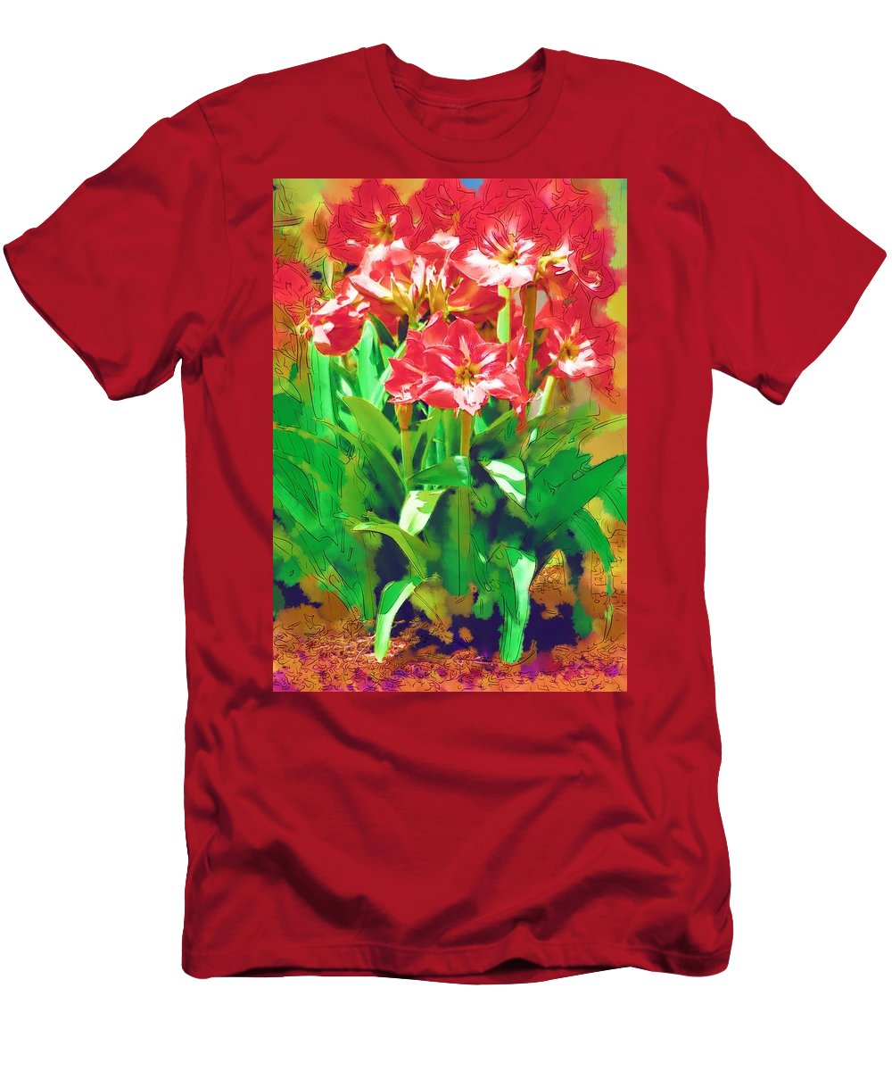 Flowers Men's T-Shirt (Athletic Fit) featuring the photograph Standing At Attention by Donna Bentley