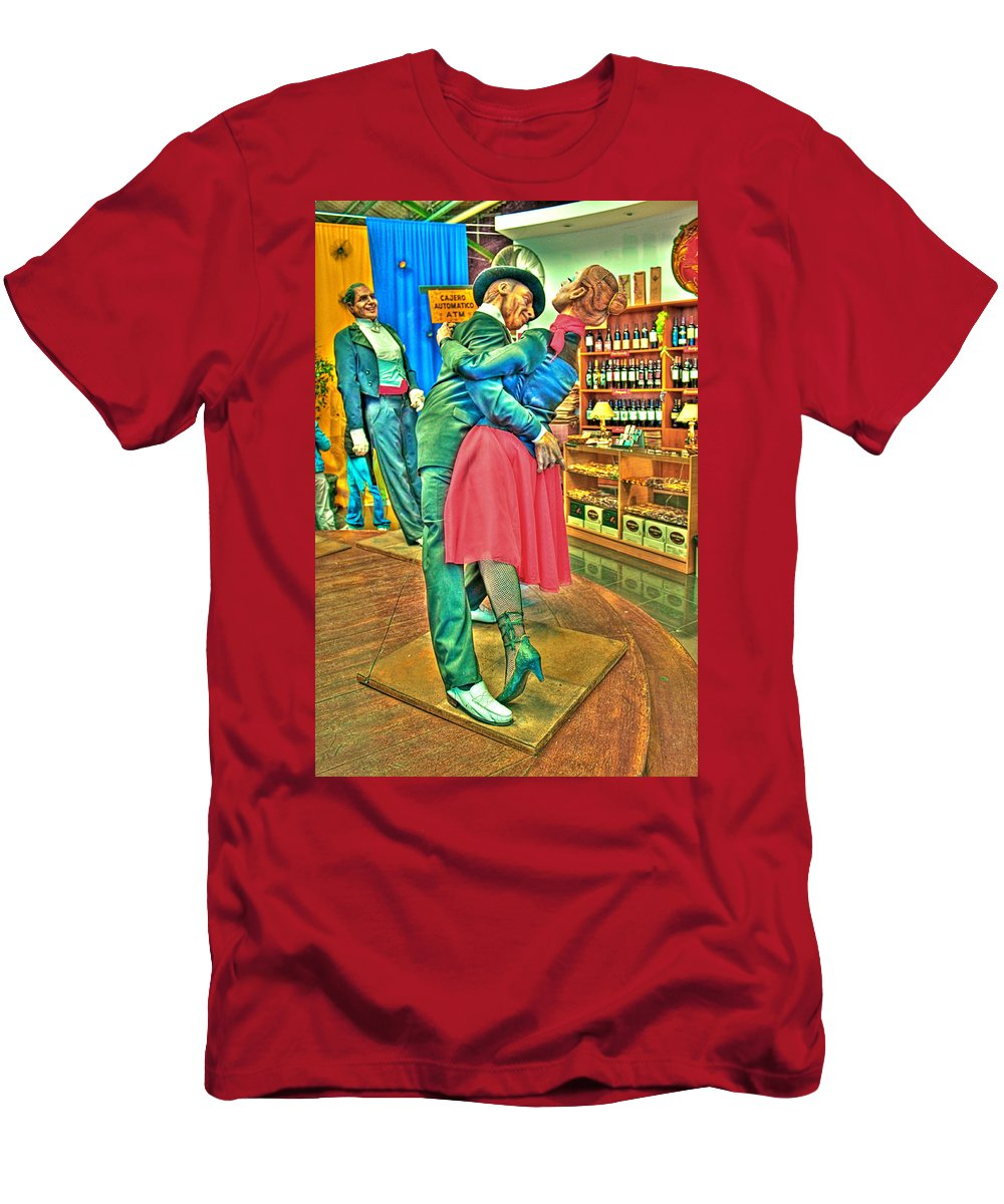 Tango Men's T-Shirt (Athletic Fit) featuring the photograph Stiff Tango by Francisco Colon