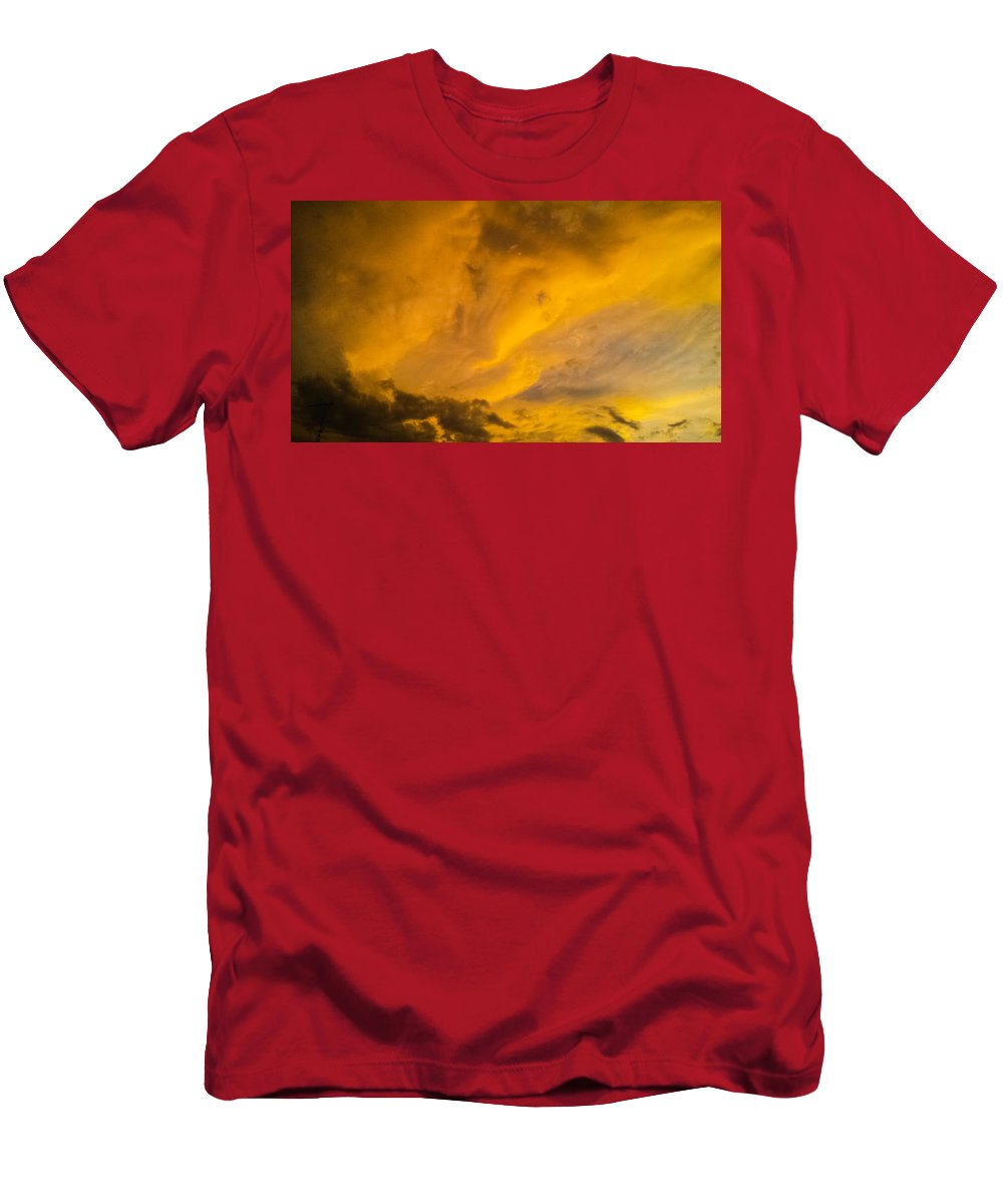 Storm Clouds Men's T-Shirt (Athletic Fit) featuring the photograph Storm Clouds 3 by Jennifer Kohler
