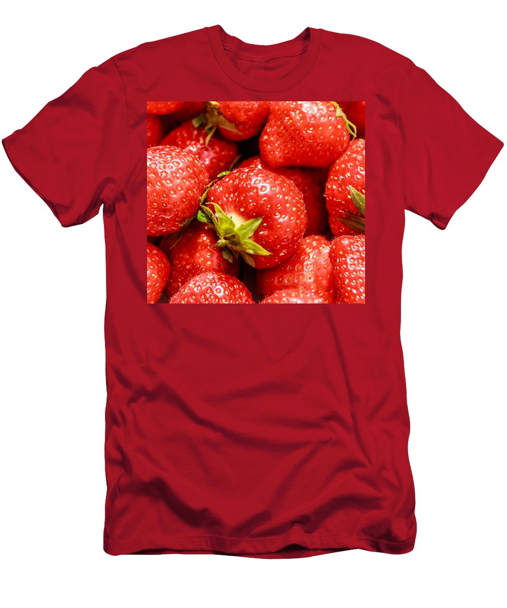 Food Men's T-Shirt (Athletic Fit) featuring the photograph Strawberries by Boris Kijevskij