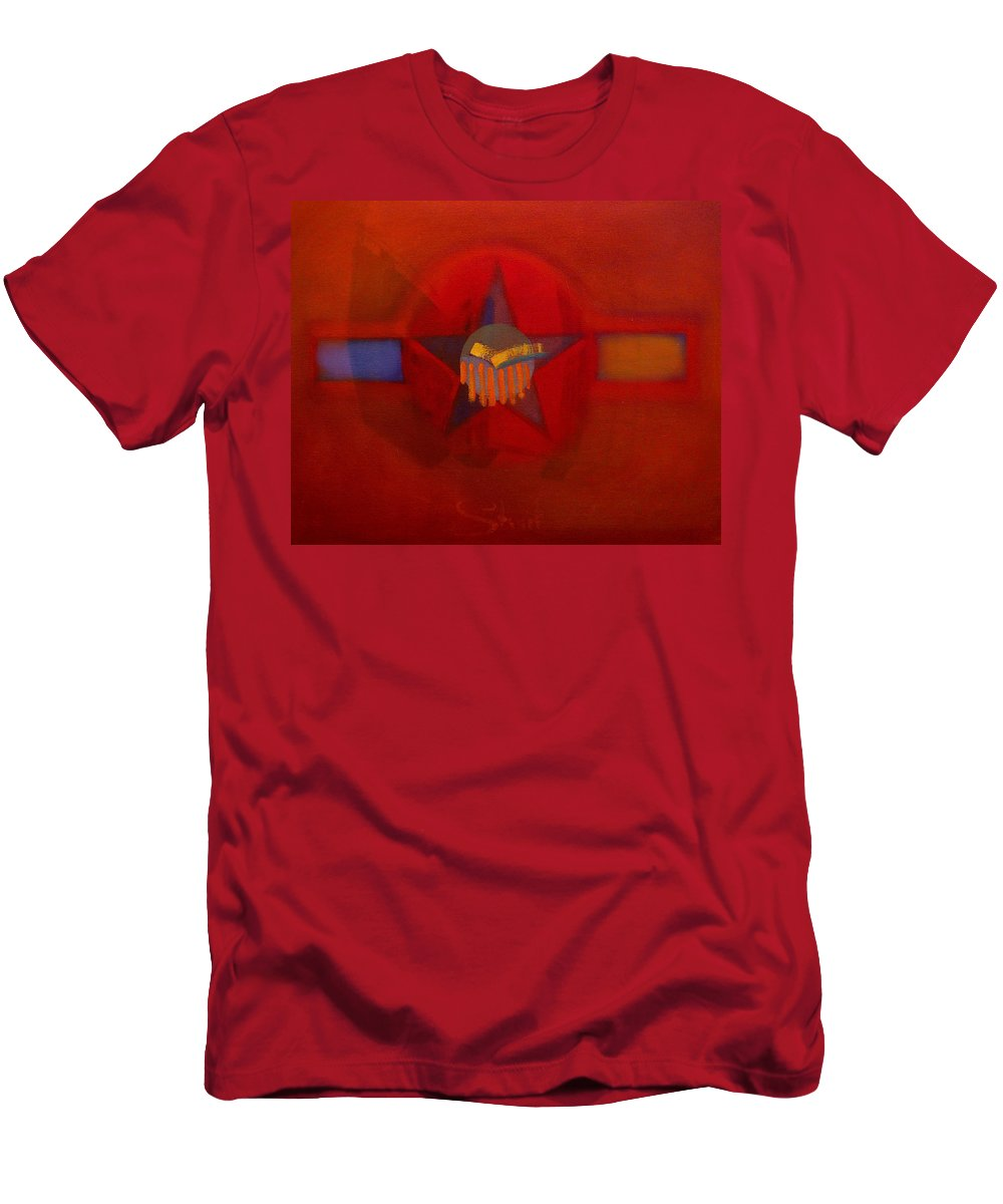 Warm Men's T-Shirt (Athletic Fit) featuring the painting Sub Decal by Charles Stuart