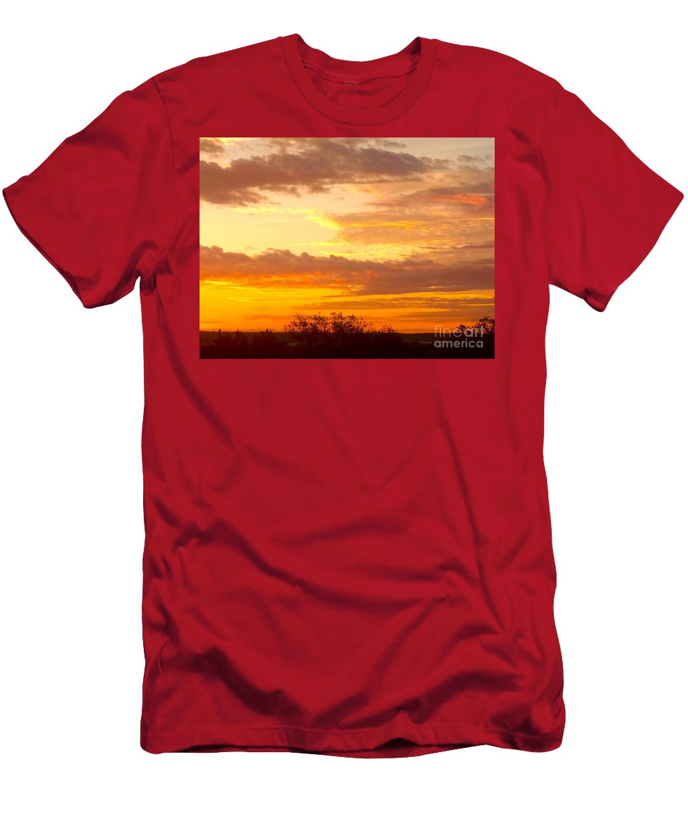 Sunrise Men's T-Shirt (Athletic Fit) featuring the photograph Sublime Sunrise by Richard Russey
