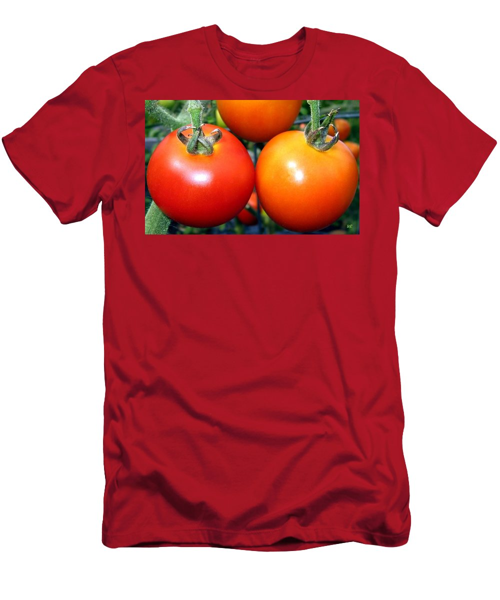 Tomatoes Men's T-Shirt (Athletic Fit) featuring the photograph Succulent Tomatoes by Will Borden