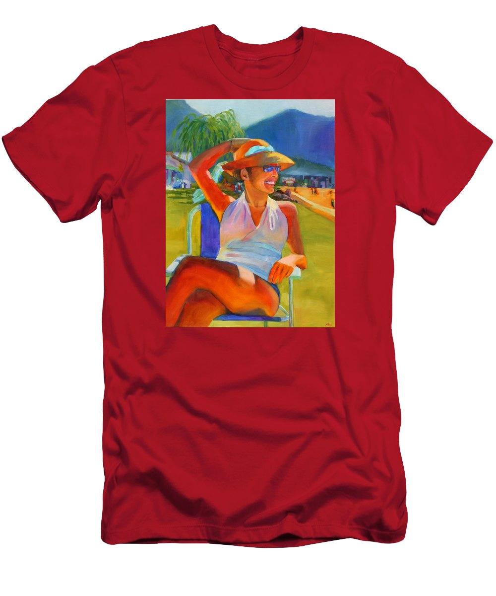 Summer Men's T-Shirt (Athletic Fit) featuring the painting Summer Breeze by Sue Darius