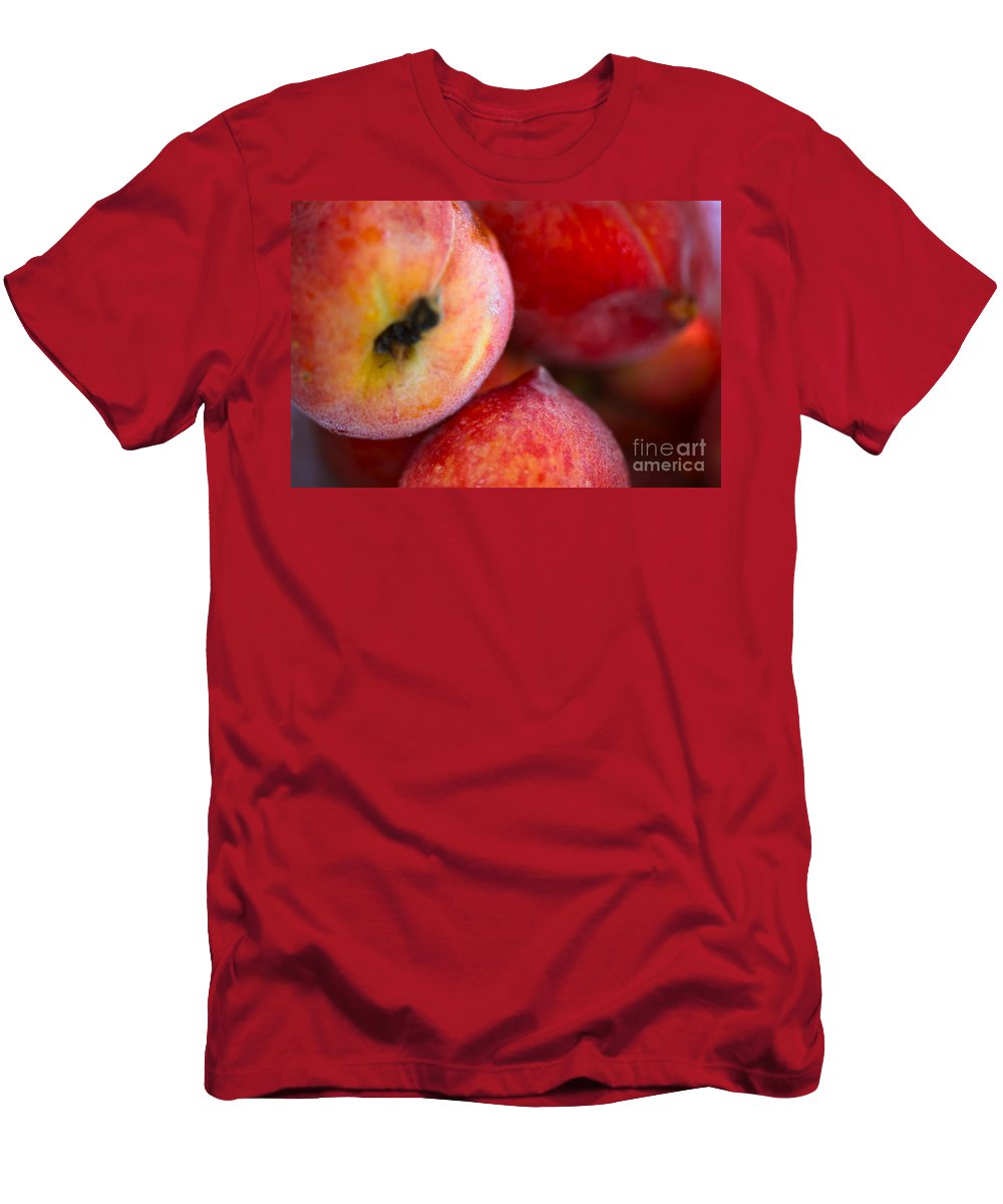 Peach Men's T-Shirt (Athletic Fit) featuring the photograph Summer Peaches by Nadine Rippelmeyer