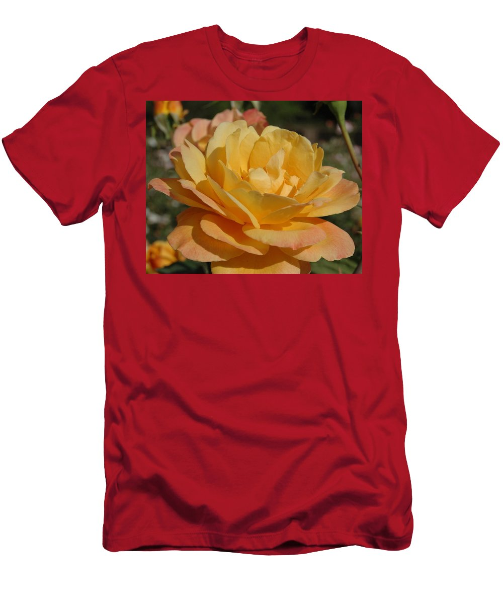 Yellow Men's T-Shirt (Athletic Fit) featuring the photograph Summer Surprise by Teresa Stallings