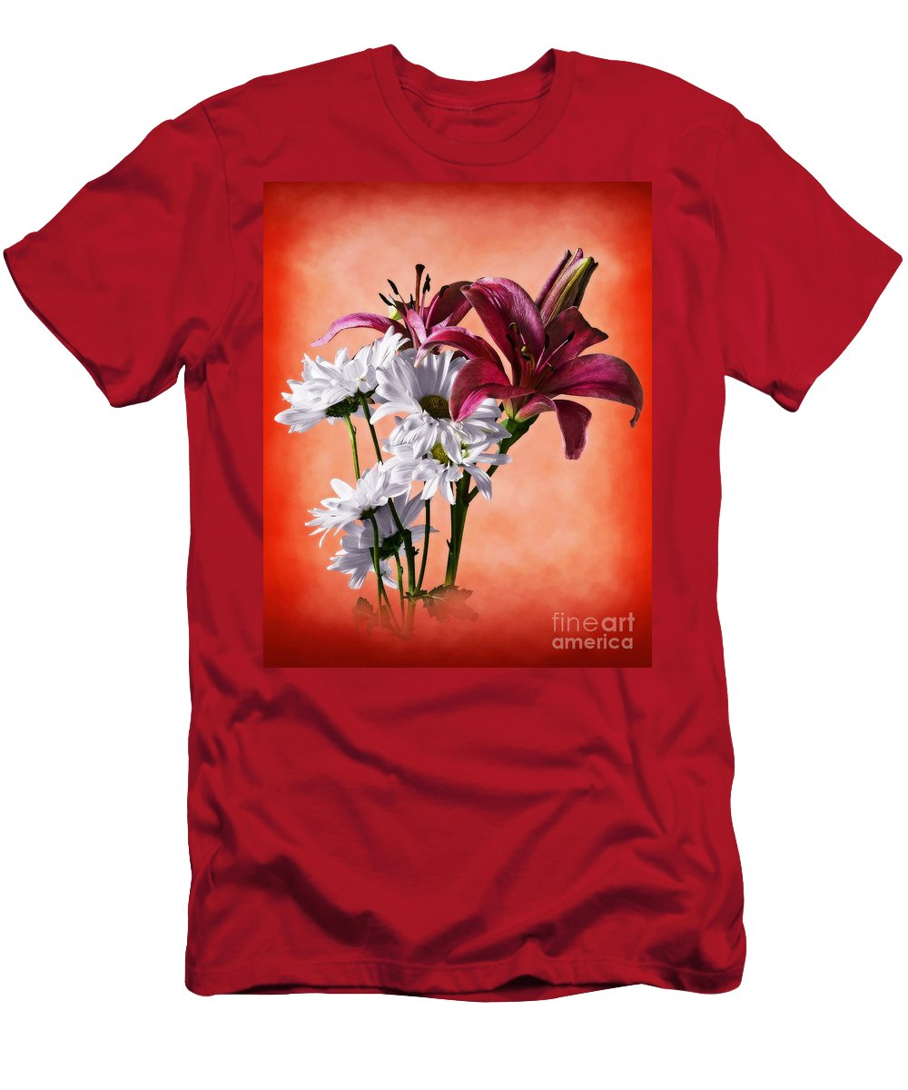 Botanical Men's T-Shirt (Athletic Fit) featuring the photograph Summer Wild Flowers by Ed Churchill