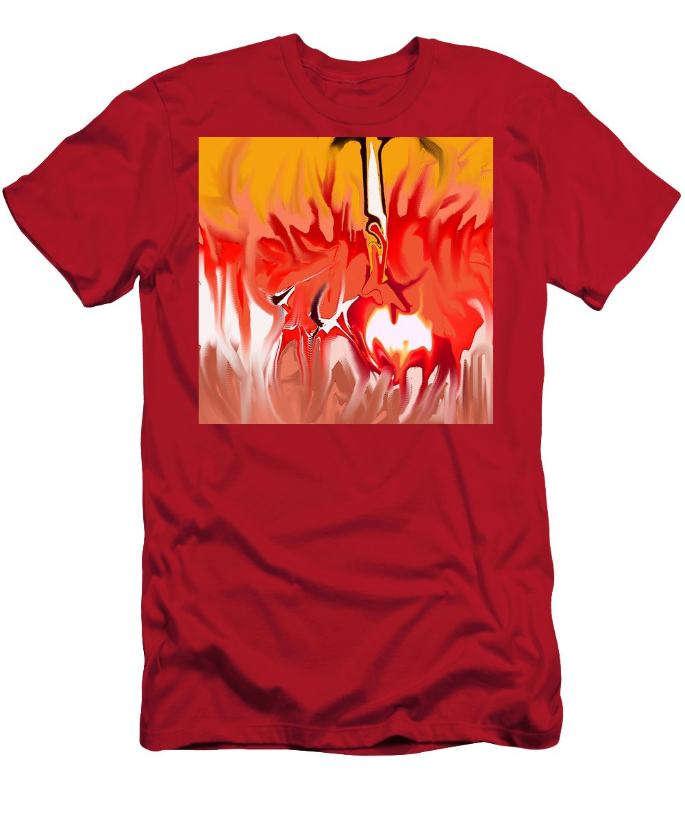 Abstract Men's T-Shirt (Athletic Fit) featuring the digital art Sun Ball Two by Ian MacDonald