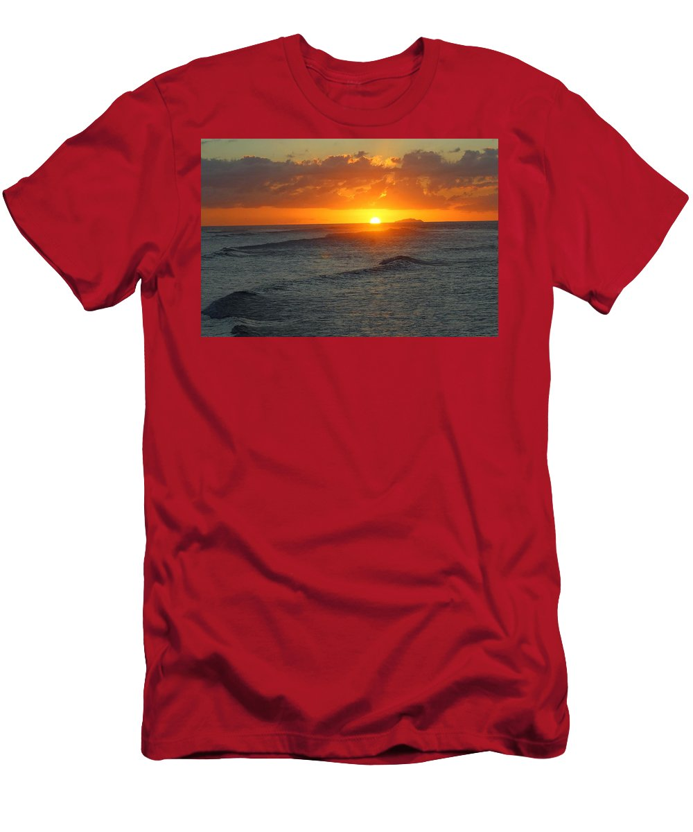 Men's T-Shirt (Athletic Fit) featuring the photograph Sun Isabela by Ramon Reyes