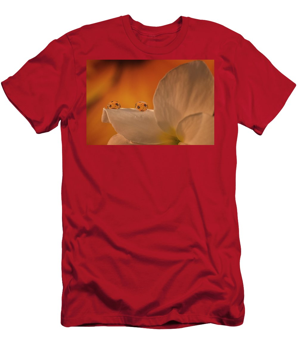 Men's T-Shirt (Athletic Fit) featuring the photograph Sunflower On White Flower by Gabriel Jardim