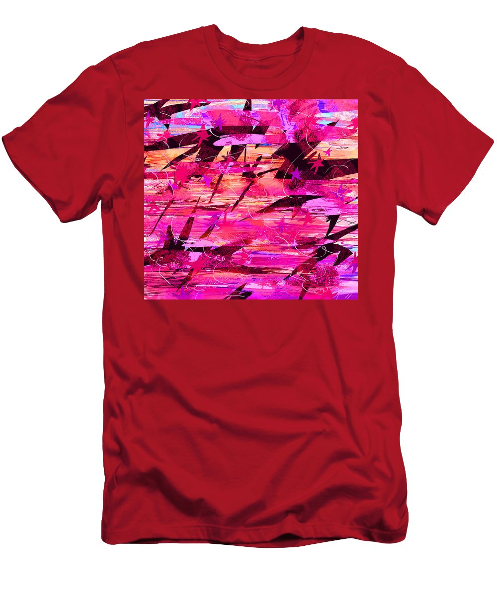 Abstract Men's T-Shirt (Athletic Fit) featuring the digital art Sunrise by Rachel Christine Nowicki