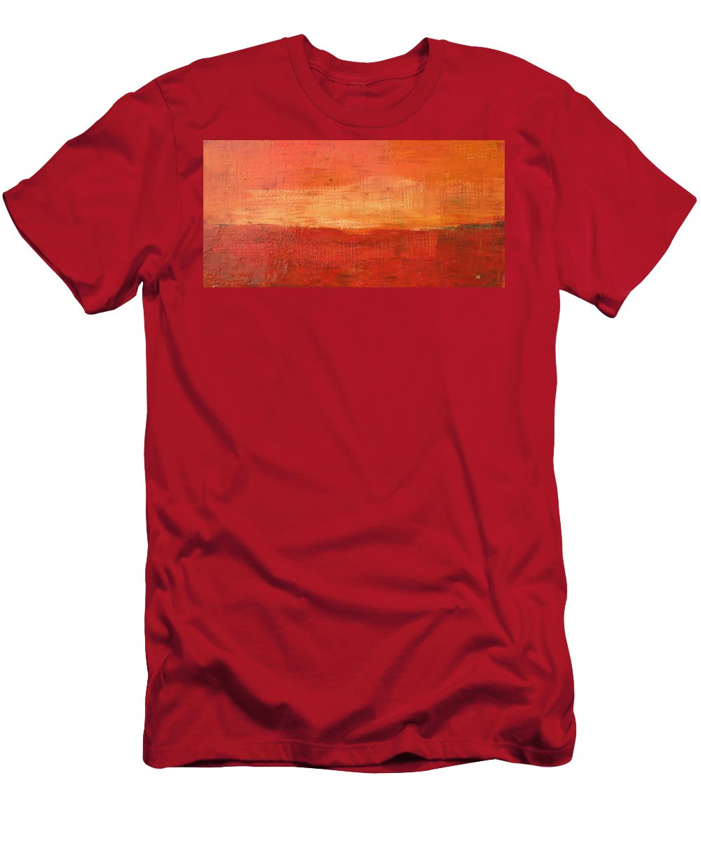 Abstract Men's T-Shirt (Athletic Fit) featuring the painting Sunset by Habib Ayat