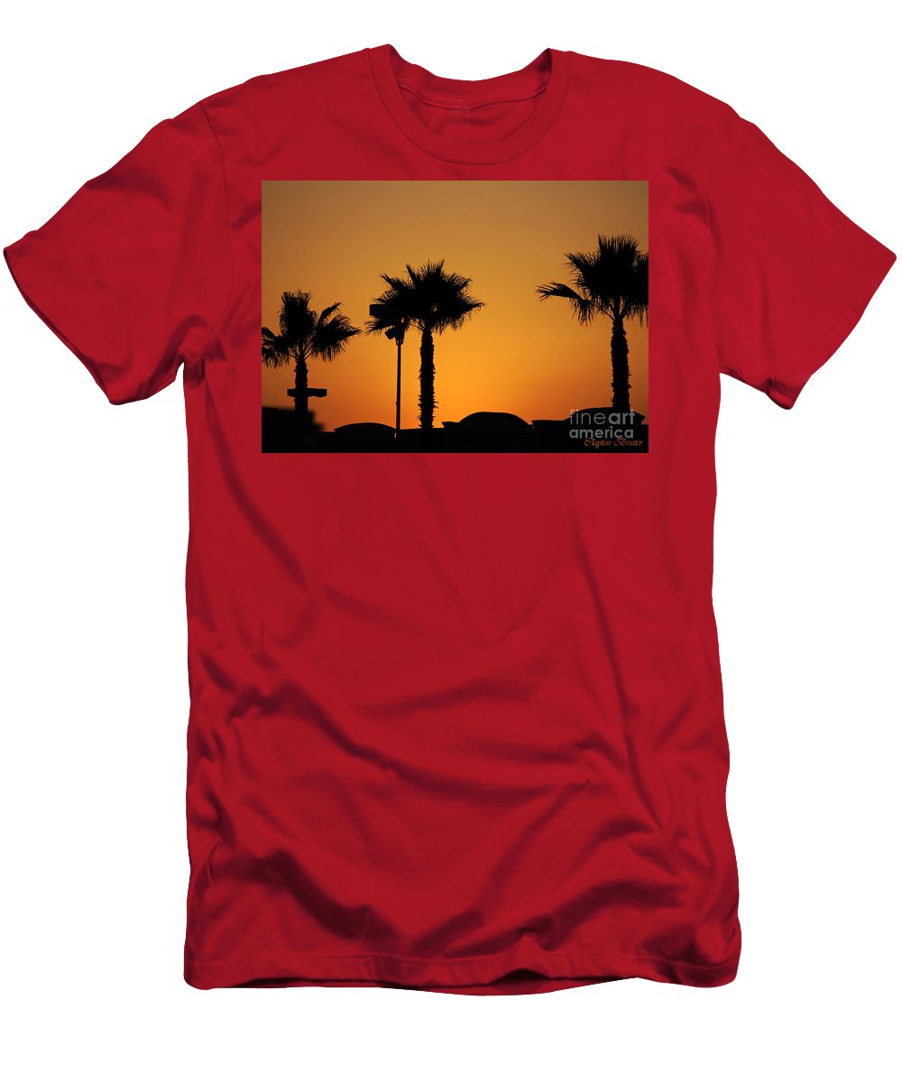 Clay Men's T-Shirt (Athletic Fit) featuring the photograph Sunset On Socal Beach by Clayton Bruster