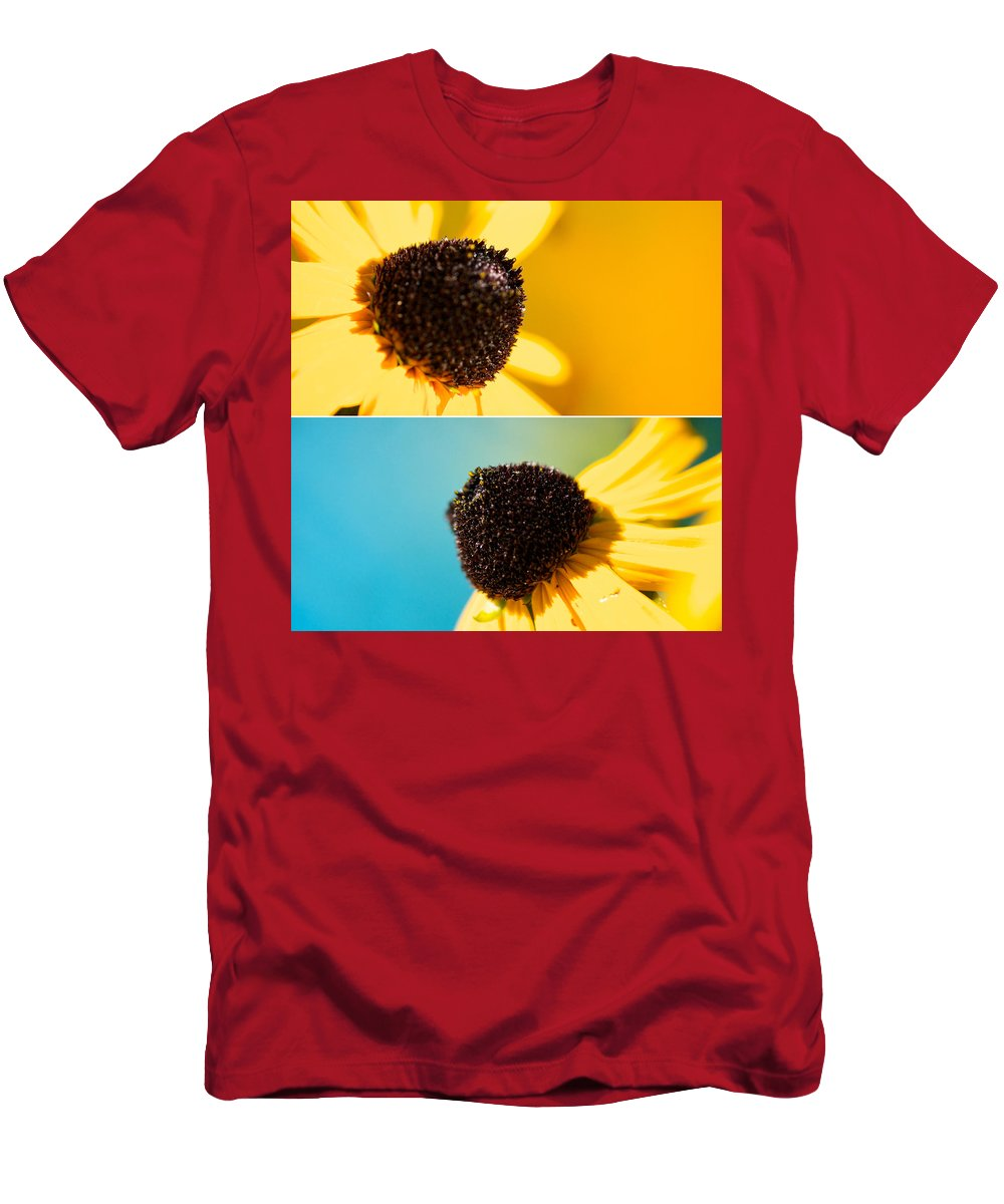 Lisa Knechtel Men's T-Shirt (Athletic Fit) featuring the photograph Susans by Lisa Knechtel