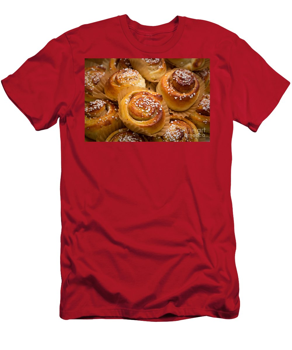 Europe Men's T-Shirt (Athletic Fit) featuring the photograph Swedish Cinnamon Rolls by Inge Johnsson