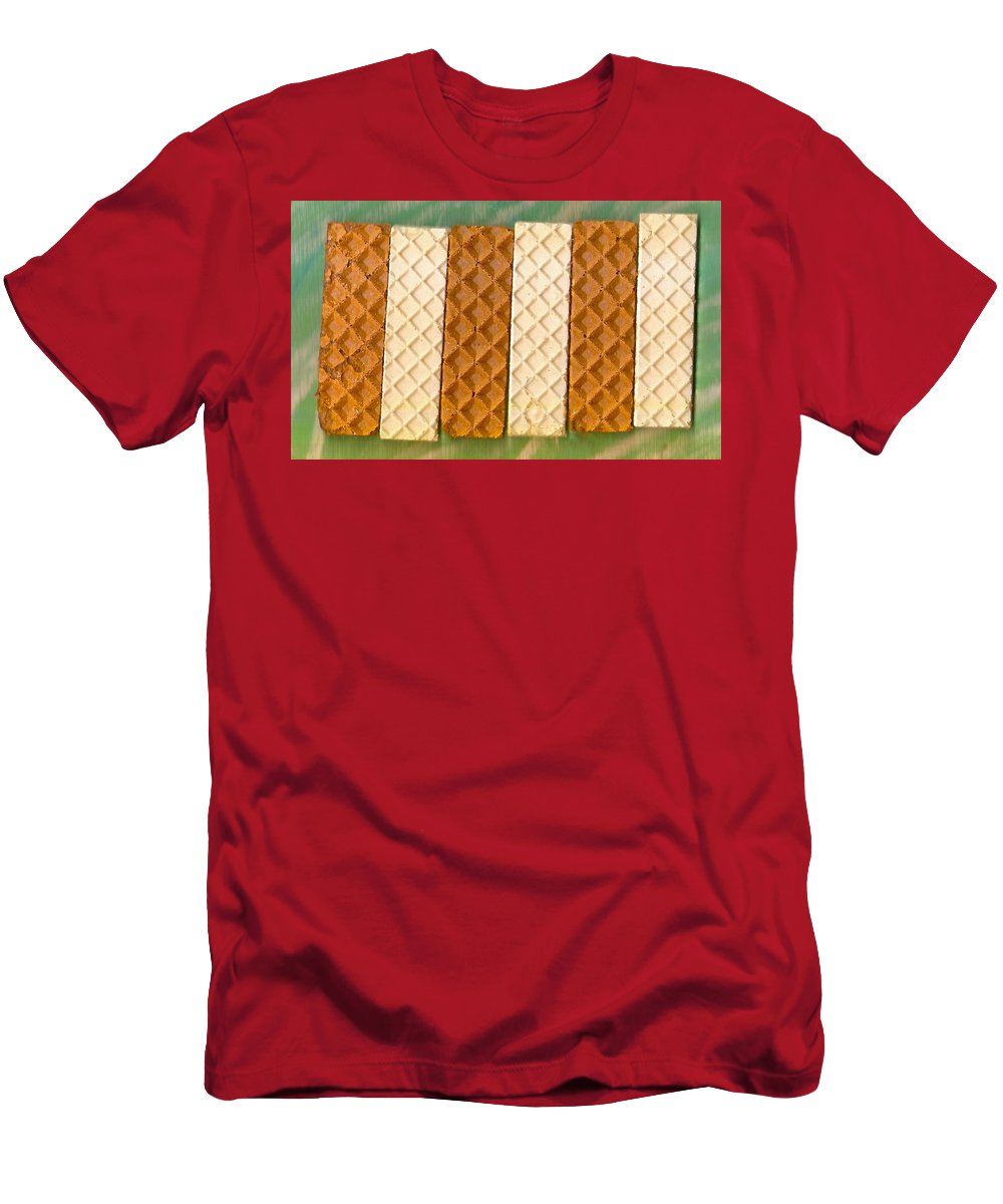 Food Men's T-Shirt (Athletic Fit) featuring the mixed media Sweet Crackers by Pepita Selles