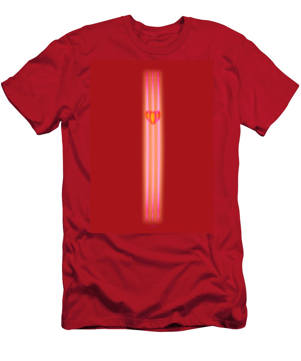 Slit Men's T-Shirt (Athletic Fit) featuring the painting Sweet Heart by Charles Stuart