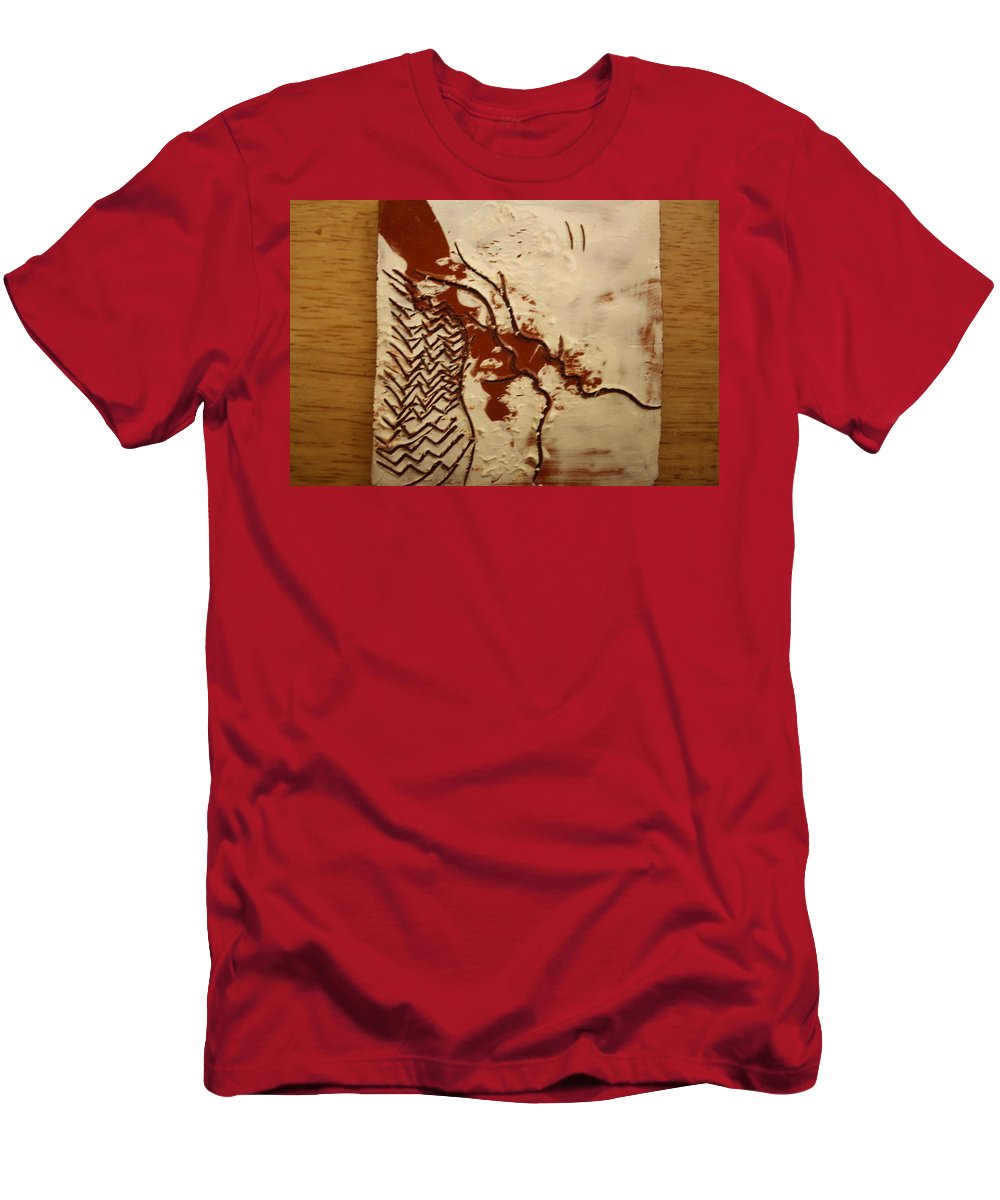 Jesus Men's T-Shirt (Athletic Fit) featuring the ceramic art Sweethearts 9 - Tile by Gloria Ssali