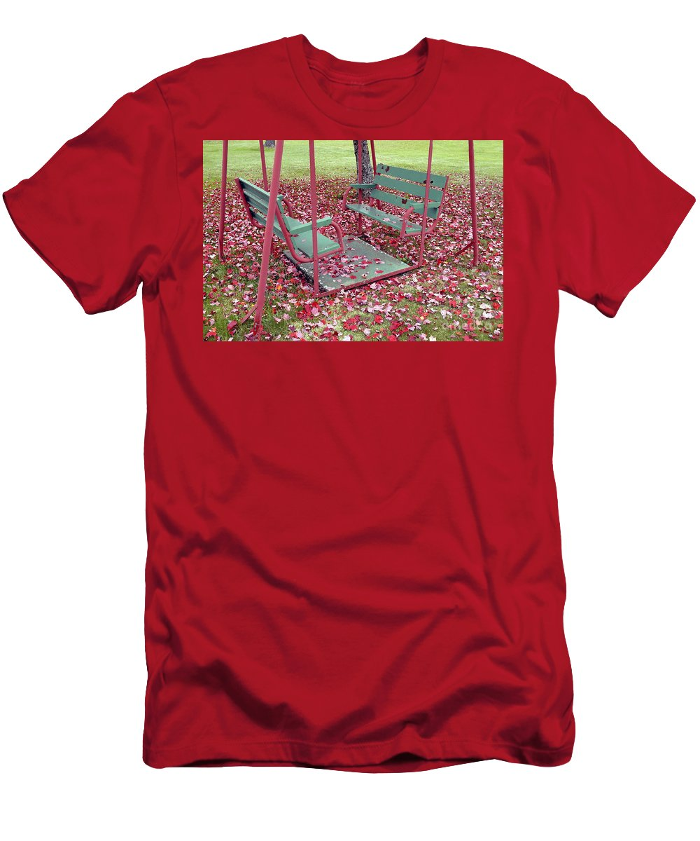 Swing Set Men's T-Shirt (Athletic Fit) featuring the photograph Swing Set by David Lee Thompson