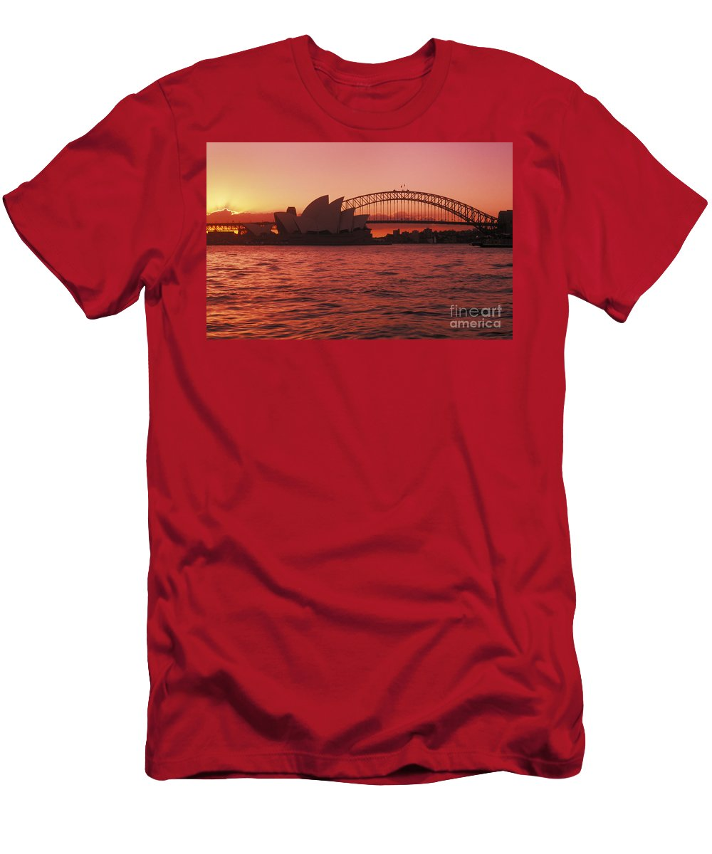 Arch Men's T-Shirt (Athletic Fit) featuring the photograph Sydney Opera House by Bill Bachmann - Printscapes