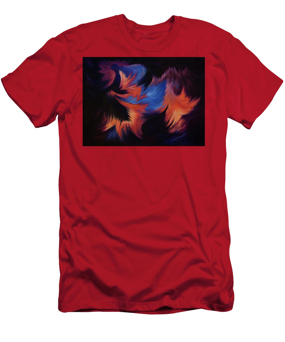 Abstract Men's T-Shirt (Athletic Fit) featuring the painting Tempest by Rachel Christine Nowicki