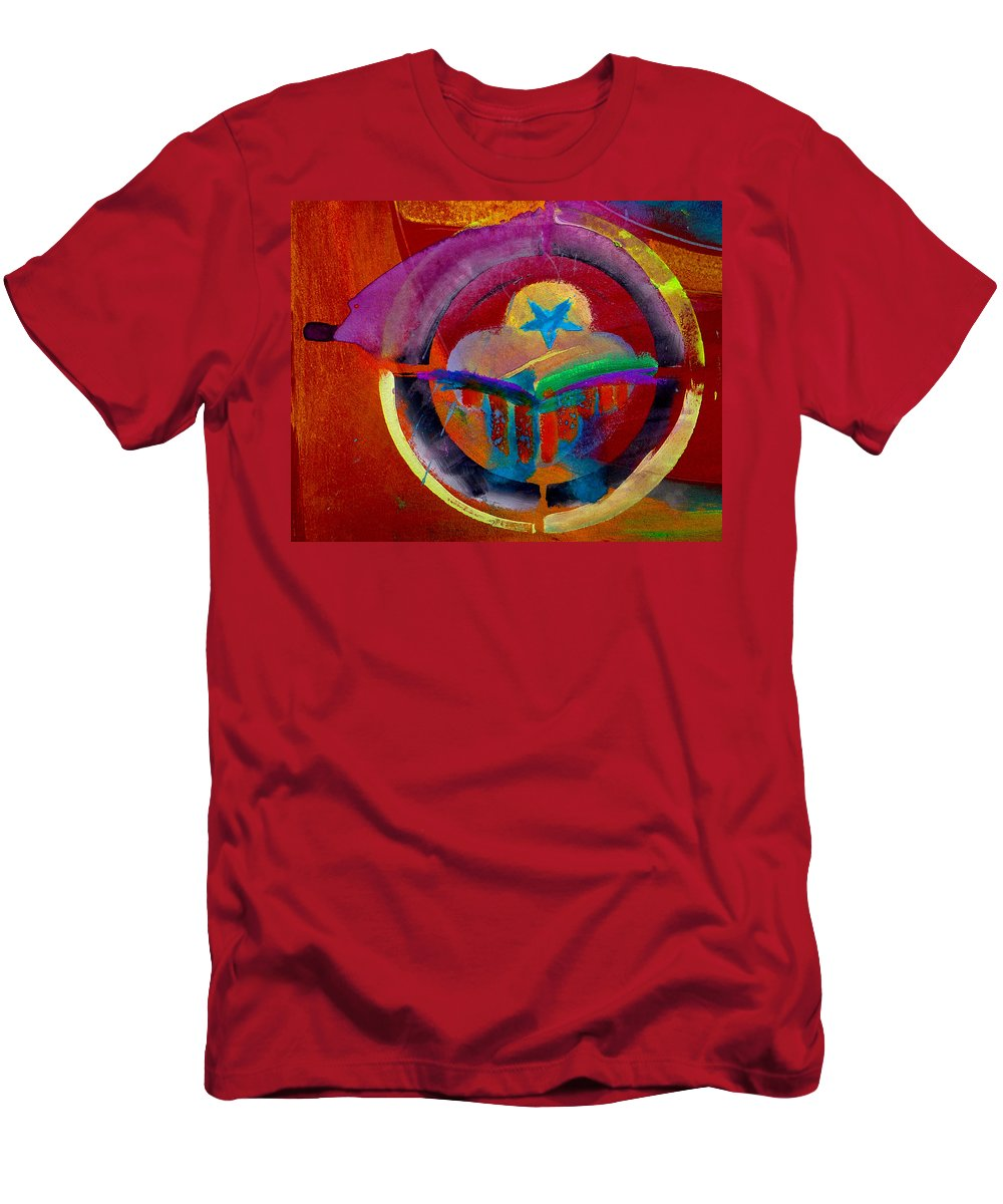 Button Men's T-Shirt (Athletic Fit) featuring the painting Texicana by Charles Stuart