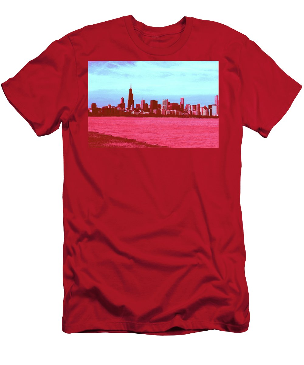 Men's T-Shirt (Athletic Fit) featuring the photograph Textures Of Chicago by Andrea Schumacher