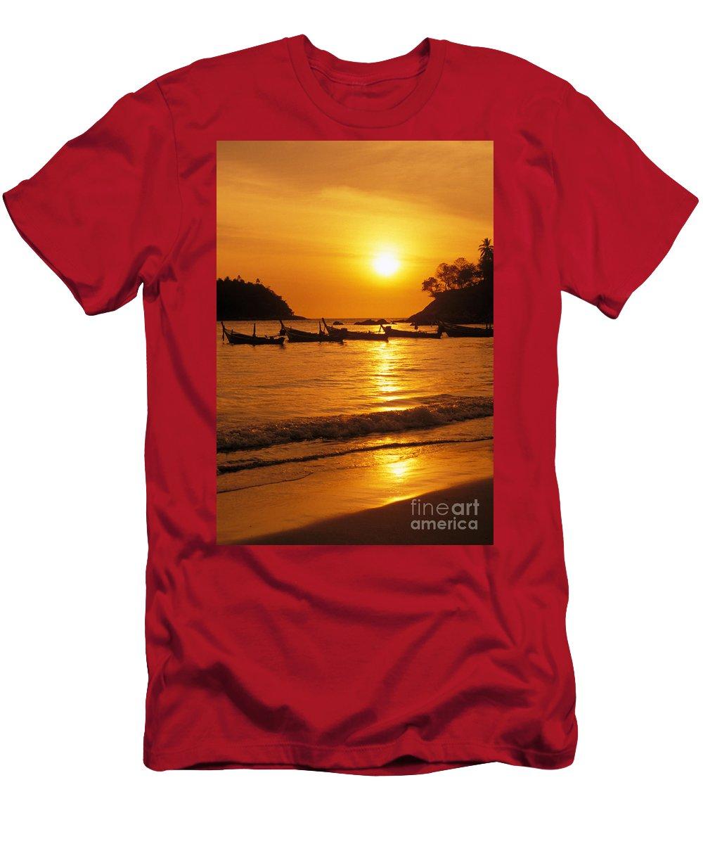 Beach Men's T-Shirt (Athletic Fit) featuring the photograph Thailand, Phuket by Rita Ariyoshi - Printscapes