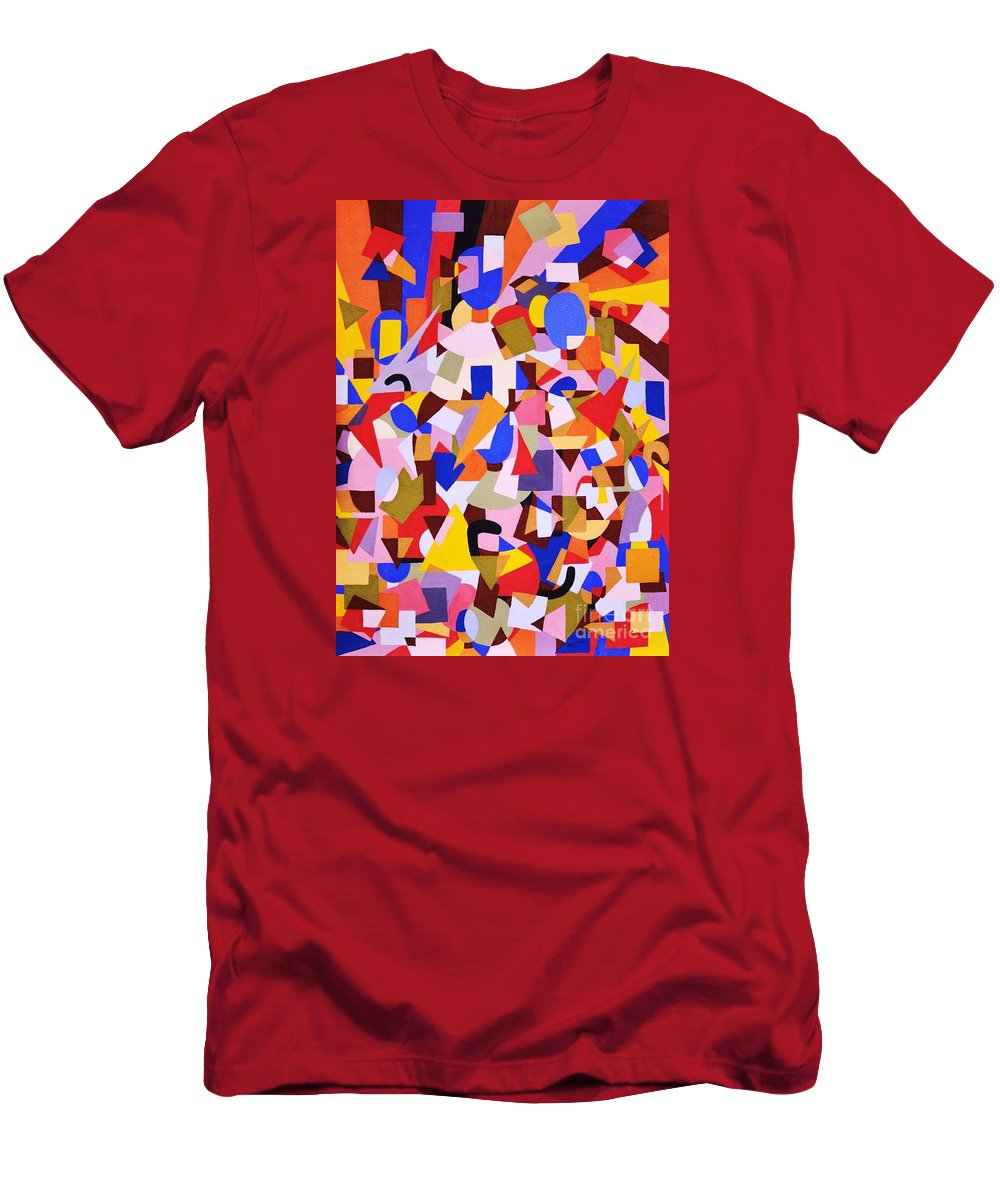 Abstract Men's T-Shirt (Athletic Fit) featuring the painting The Art Of Misplacing Things by Reb Frost