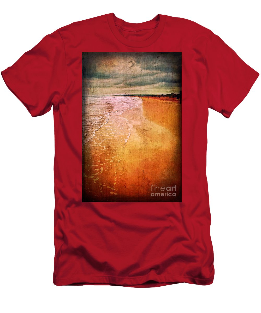 Waves Men's T-Shirt (Athletic Fit) featuring the photograph The Beach by Silvia Ganora