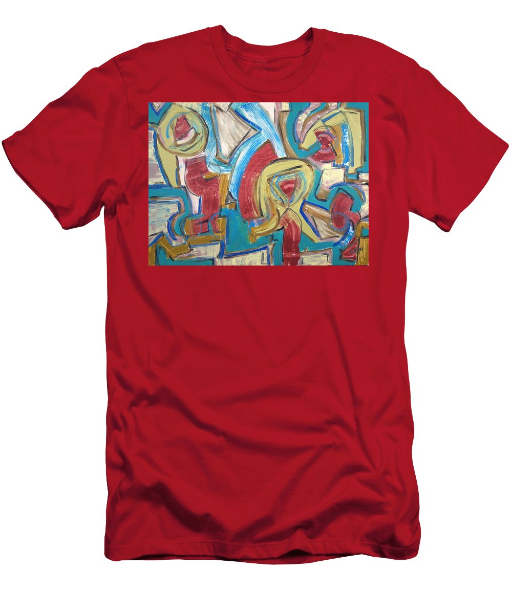 Abstract Men's T-Shirt (Athletic Fit) featuring the painting The Cog Rebellion by Robert Dalton