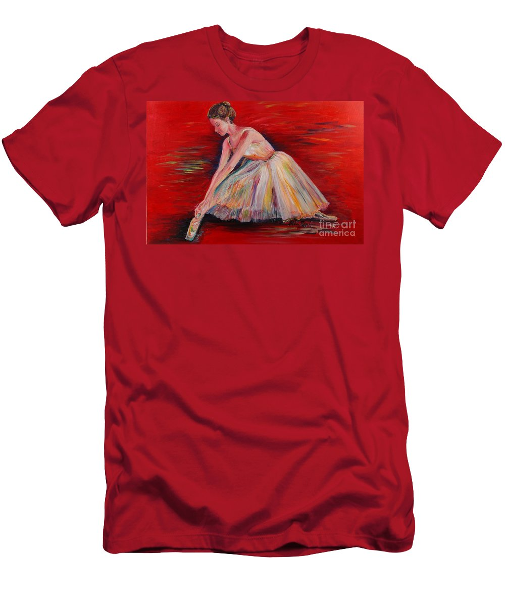 Dancer Men's T-Shirt (Athletic Fit) featuring the painting The Dancer by Nadine Rippelmeyer
