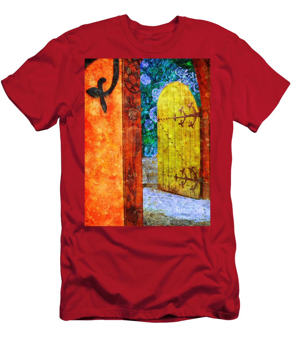 Door Men's T-Shirt (Athletic Fit) featuring the photograph The Door Is Always Open by Tara Turner