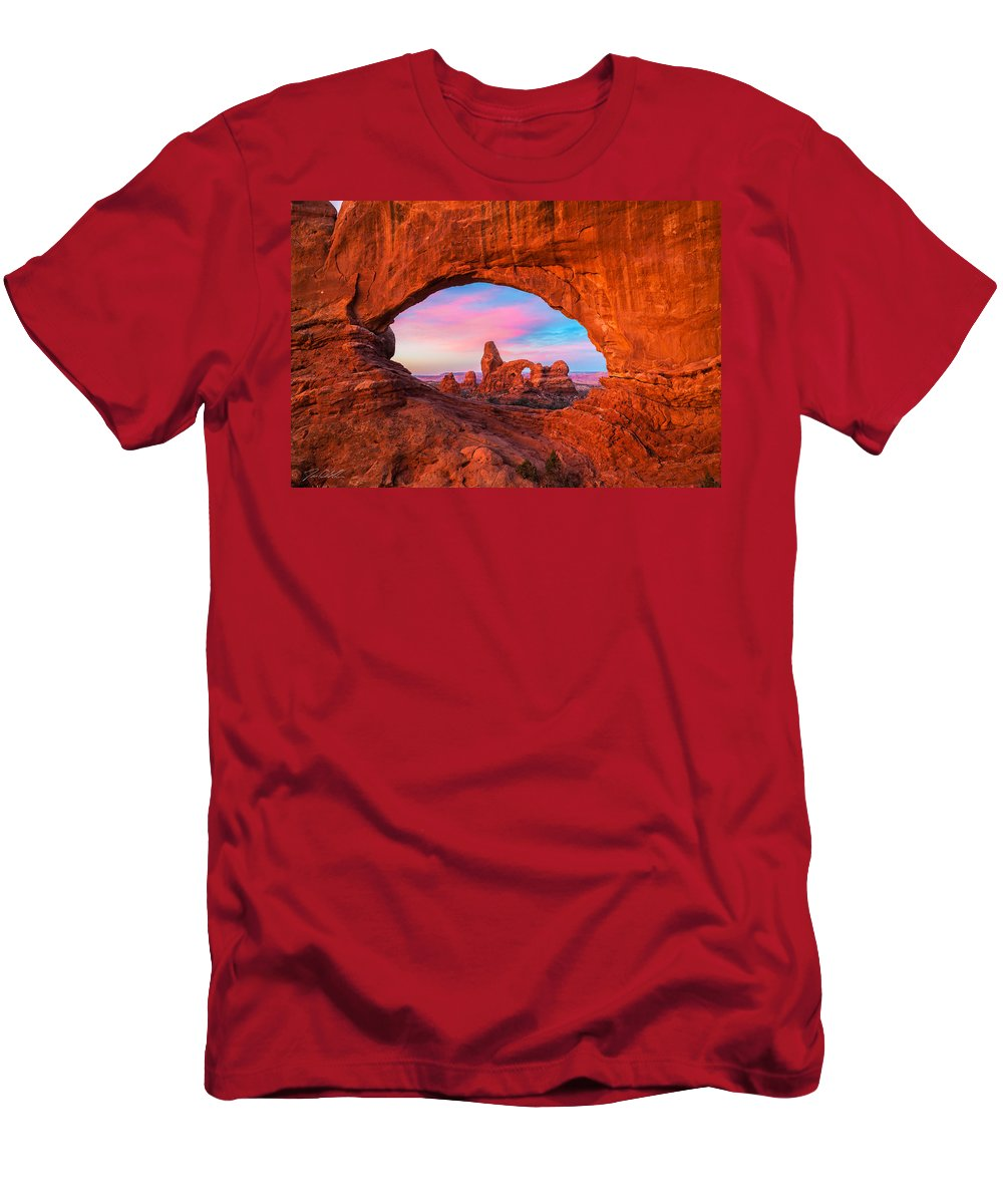 Mountains Men's T-Shirt (Athletic Fit) featuring the photograph The Eye Of The Beholder by Jon Blake