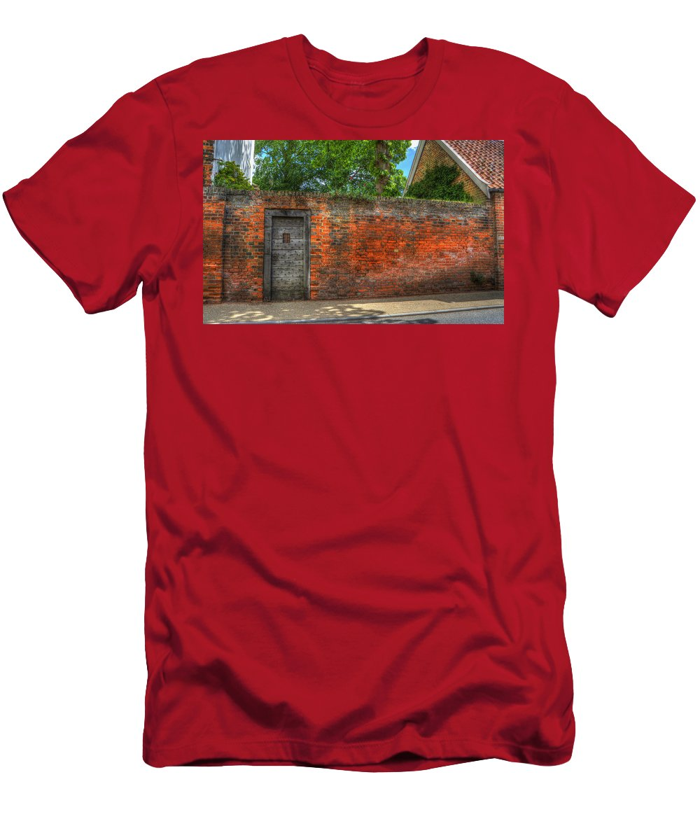Northgate Men's T-Shirt (Athletic Fit) featuring the digital art The Gate by Nigel Bangert