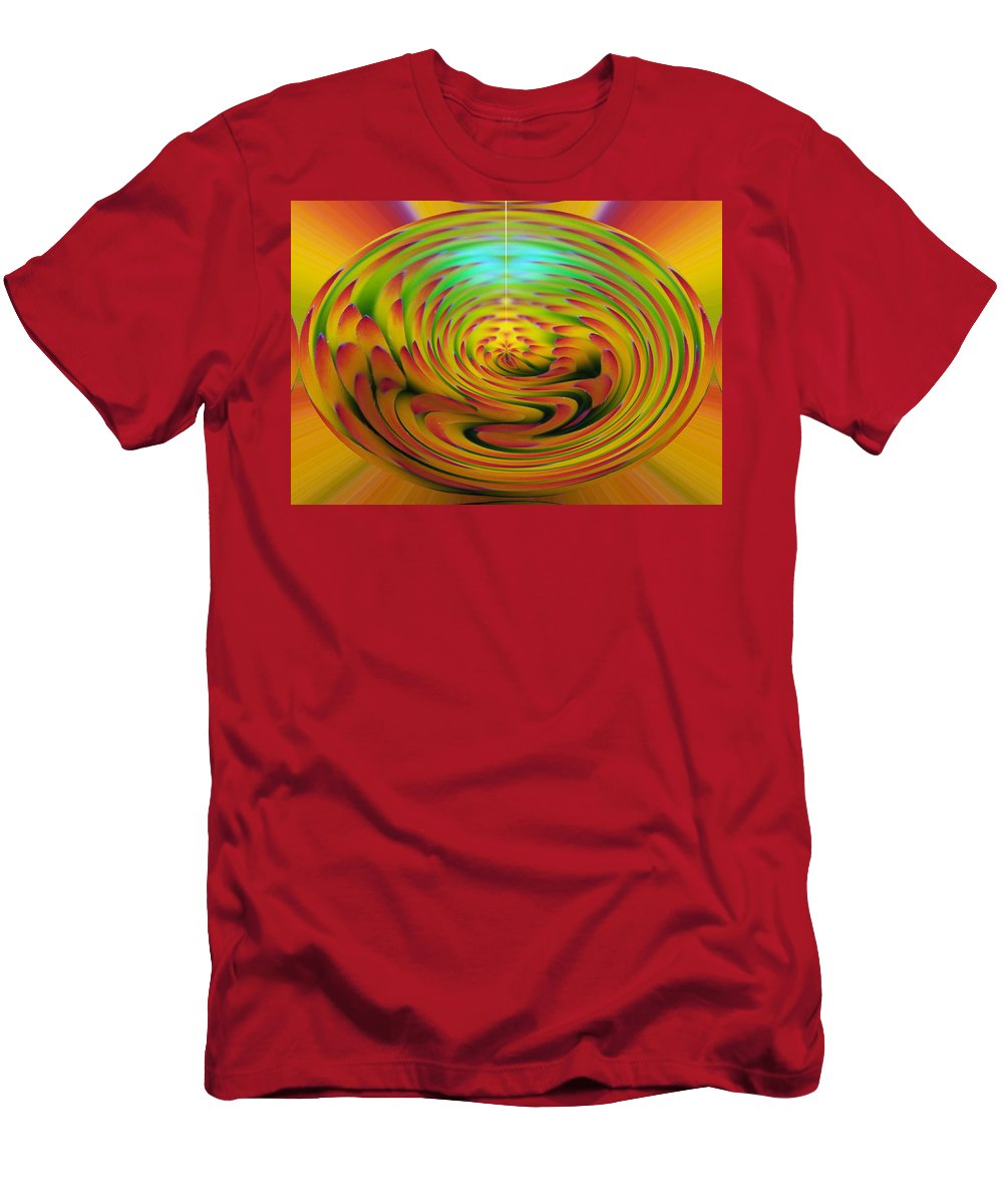Abstracts Men's T-Shirt (Athletic Fit) featuring the digital art The Globe by Ernie Echols