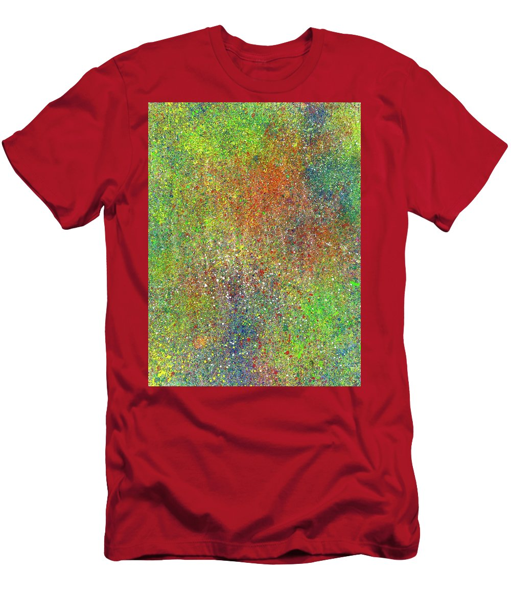 Abstract Men's T-Shirt (Athletic Fit) featuring the painting The God Particles #544 by Rainbow Artist Orlando L