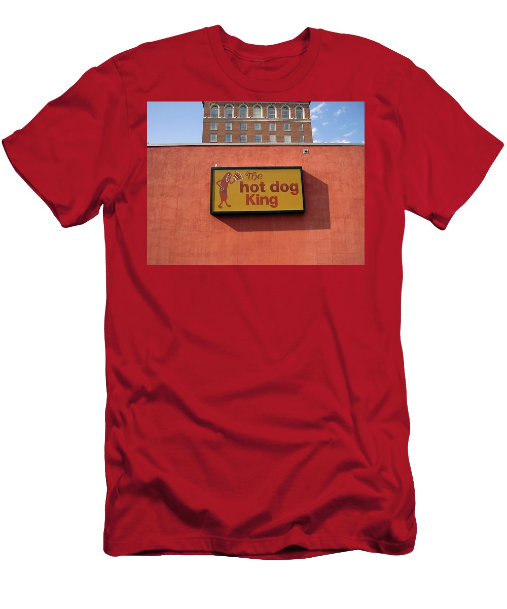 Hot Dog King Men's T-Shirt (Athletic Fit) featuring the photograph The Hot Dog King by Flavia Westerwelle