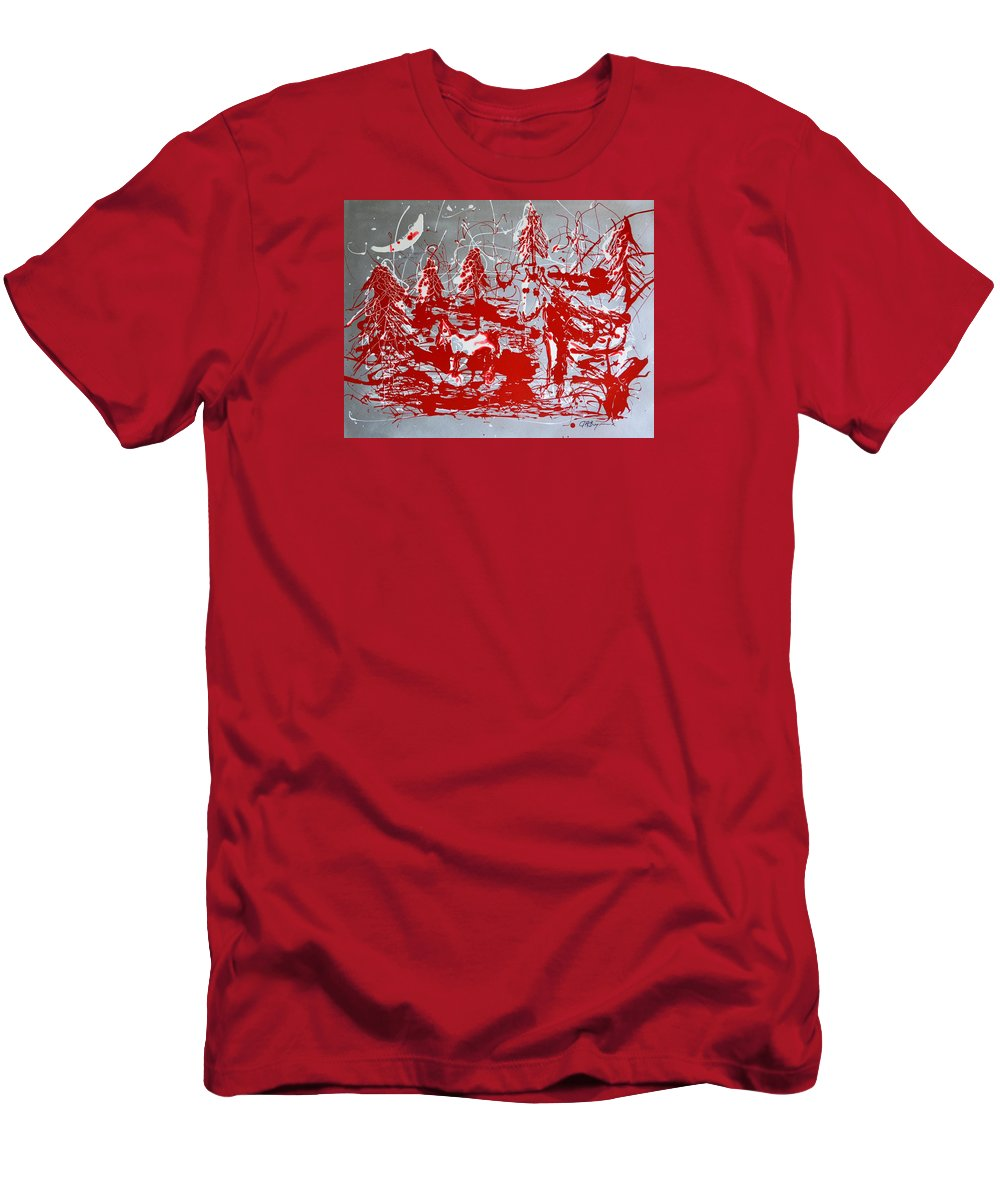 Abstract T-Shirt featuring the painting The Moonlit Woods by J R Seymour