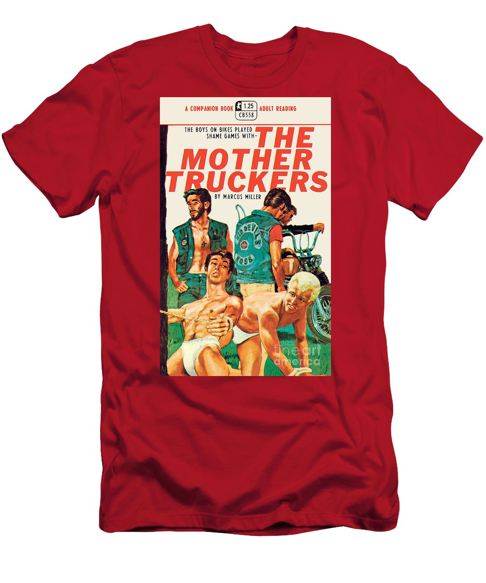 Vintage Men's T-Shirt (Athletic Fit) featuring the painting The Mother Truckers by Unknown Artist