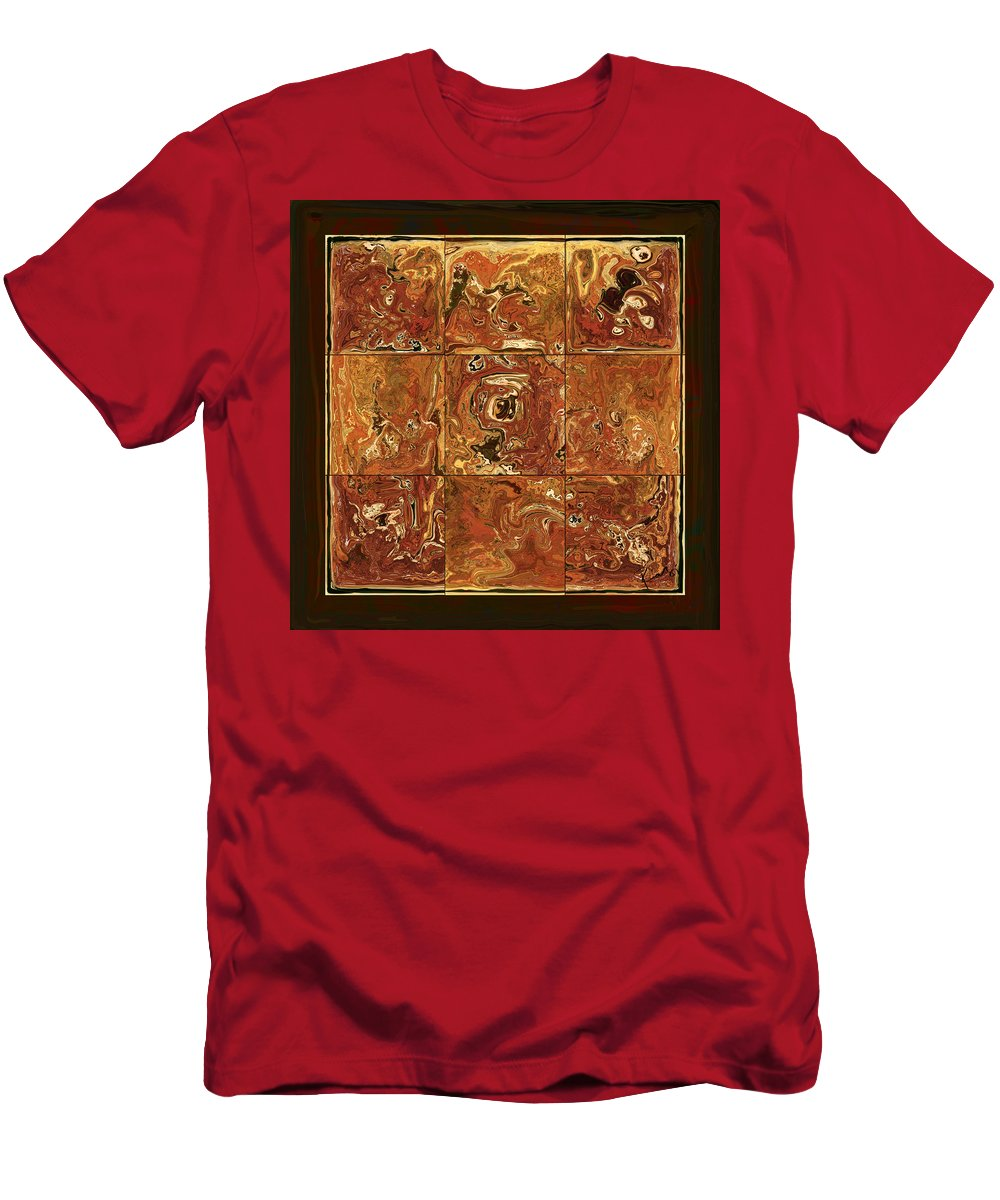Abstract Men's T-Shirt (Athletic Fit) featuring the digital art The Pieces by Rabi Khan