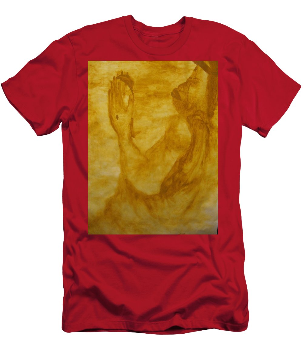 Gloria Ssali Men's T-Shirt (Athletic Fit) featuring the painting The Potter by Gloria Ssali